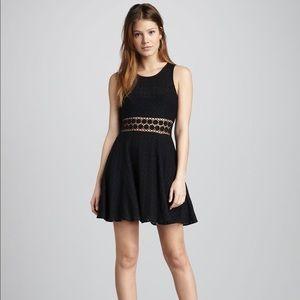 Free people black lace daisy skater dress